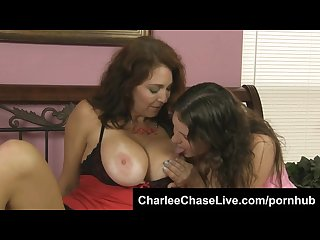 Hot busty florida milf charlee chase teases a shy teens big soft tits
