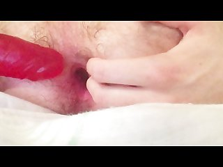 Anal dildo and super Moaning orgasm