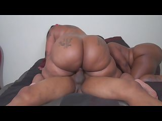 Two monster booty Freaks fuck lucky guy