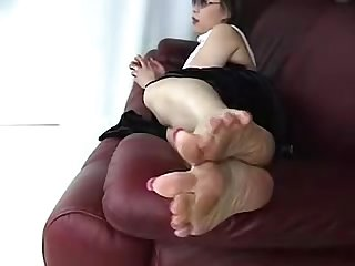 Big sexy wrinkly mature asian feet long toenails