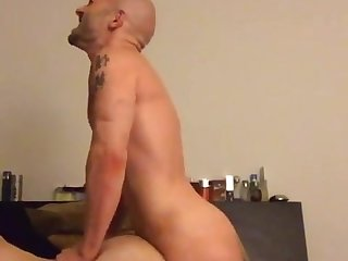Gay bearback cum inside