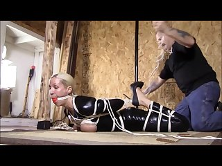 Rope applied to female body in unique ways