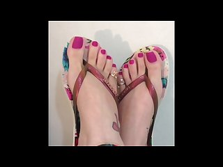 Brazilian size 7 5 toes foot compilation