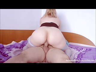 Hot senorita riding cock to orgasm