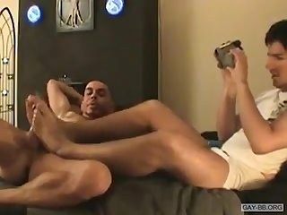 Danny gives footjob