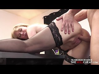 Older milf Slutwife nina hartley seduces younger guy in office Affair sex