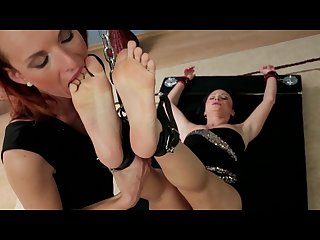 Courtney bounded and foot worshipped