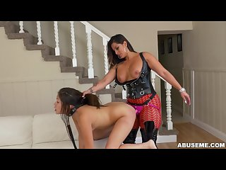 Latina camgirl spicy J dominates samantha parker with a strapon