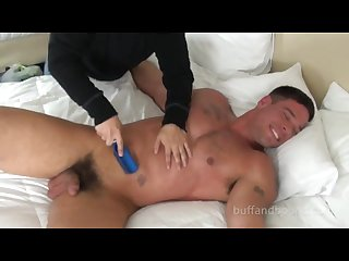 Handsome muscle stud bound and tickled derek atlas