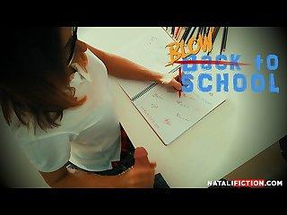 Schoolgirl want blowjob and cum facial pov
