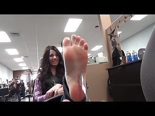 So sweet with very sensitive feet hot