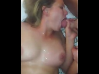 Cum slut wife gangbanged and creampied
