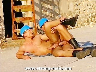Muscle studs anal sex outdoors