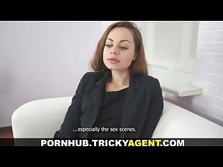 Tricky agent stylish cutie who loves cock