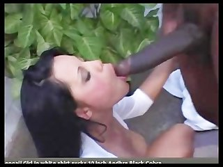 Bengali girl in white shirt sucks 10 inch dravidian penis in Mallu masala