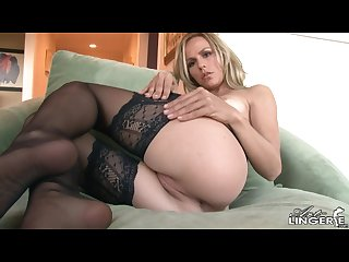 Crystal klein topless in black crotchless garter and panties
