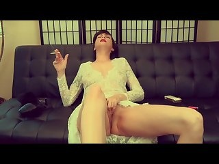Auntie makes you cream your jeans taboo smoking virtual footjob pov