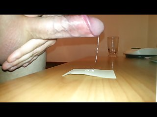 Teasing hard testicles leads to crystal precum inevitably backfires milk