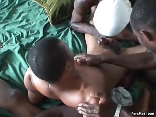 Gay African orgy