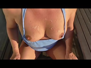 Outdoor bj in the sun