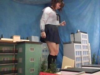Giant psycho japanese schoolgirl