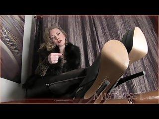 Mistress t Joi Boot fetish
