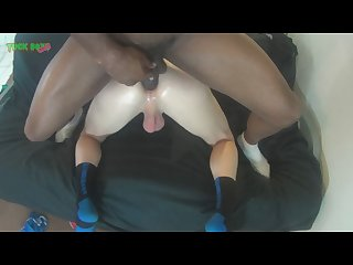 Live interracial country white boy bareback audition with big black cock