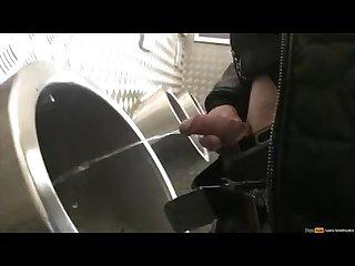 One boy different urinals