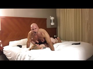 Mike creampies another horny 40 something in her hotel room
