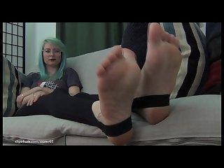 Stirrup tights sexy feet toe curling 2