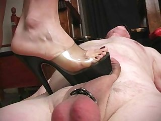 aie s ruthless punishment of old male slave femdom