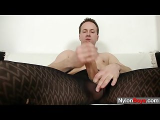Sexy twink boy clark having fun in pantyhose