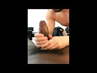 Griffin deepthroats and rides eric S giant cock