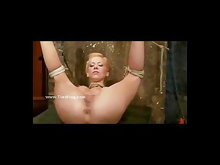 Blonde busty sex slave is made to swallow cock in extreme deept