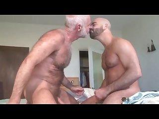 Daddy Bear hairy muscle cub flip fuck