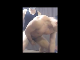 Chinese Muscle having sex on cam