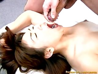 This japanese milf goes wild when fucked hard