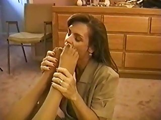 After work lesbian nylon foot worship