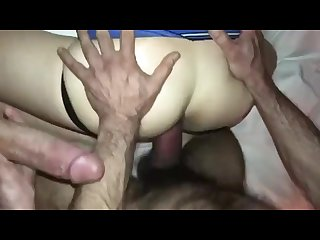 Straight married daddy S fucking gay pussy hole