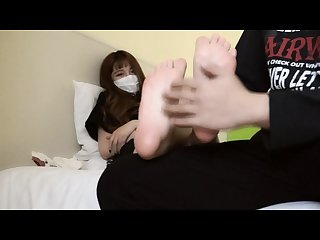 Chinese student foot Tickling