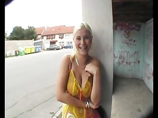 Russian blonde suck s and fuck s for cash