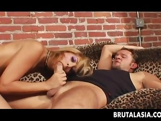 seductive blonde bitch getting her ass fucked deep