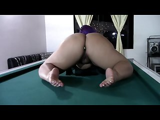 Twerking on a pool table