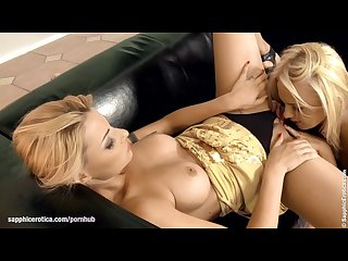 Stunning blondes klaudia and ivana have hot lesbian sex on sapphic erotica