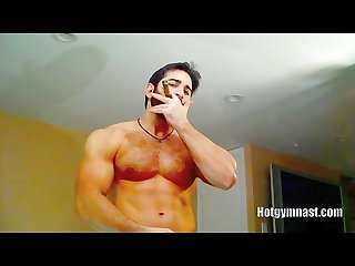 Smoking stroking cumming