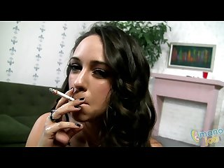 Layla smoking handjob with facial
