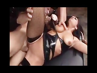 Hot chicks in leather fucking