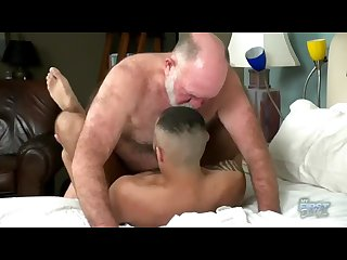 Hairy grandpa has dirty sex with a hot young jock
