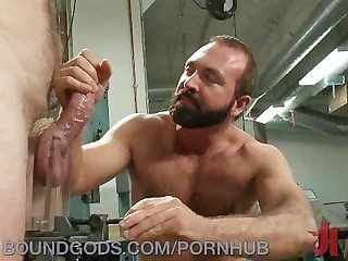 Hot men in metal bondage
