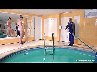 Old-n-Young.com - Ilona C - Fresh babe and old pool boy